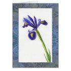 """""""Iris Watercolor with Morris Design"""" Card"""