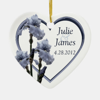 Iris Wedding Favor Christmas Ornament