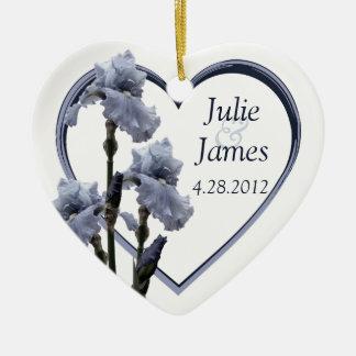 Iris Wedding Favor Christmas Ornament