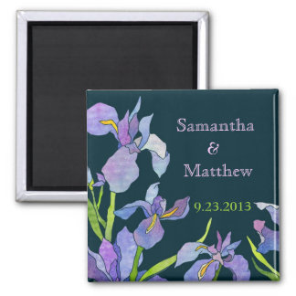 Iris Wedding Save the Date Magnet