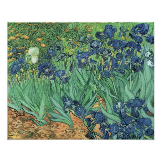 Irises, 1889 poster