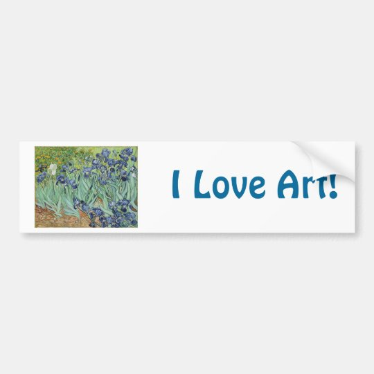 Irises 2 by Vincent Van Gogh Bumper Sticker