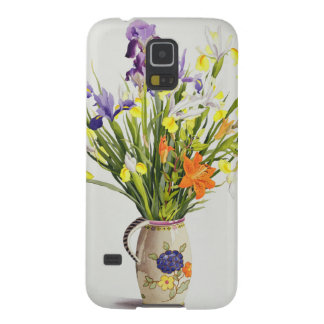 Irises and Lilies in a Dutch Jug Galaxy S5 Cover