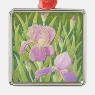 Irises at Wisley Gardens Surrey in Pastel Ornament