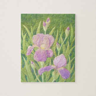Irises at Wisley Gardens, Surrey in Pastel Puzzle
