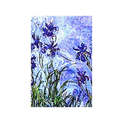 Irises by Claude Monet Wrapped Canvas Stretched Canvas Prints