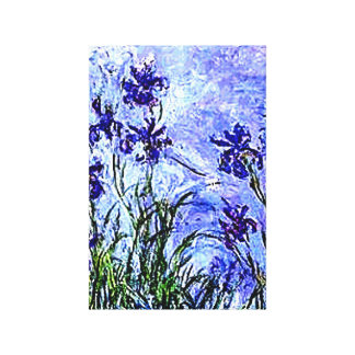 Irises by Claude Monet Wrapped Canvas Canvas Print