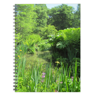 Irises by Pond, Richmond Park Notebook 80 pages