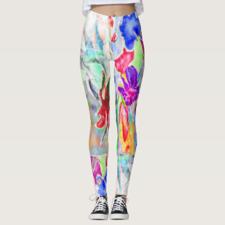 Irises by the Pond Leggings