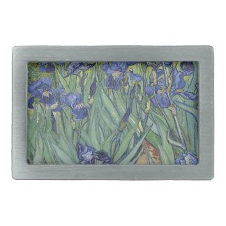 Irises by Van Gogh Blue Iris flowers Belt Buckle