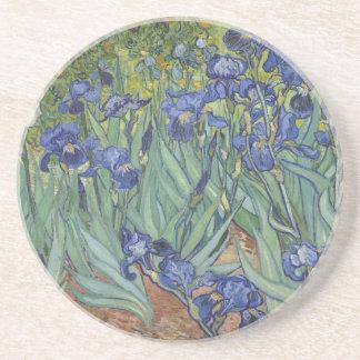 Irises by Van Gogh Blue Iris flowers Coaster