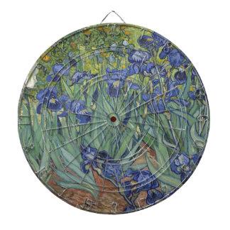 Irises by Van Gogh Blue Iris flowers Dart Board