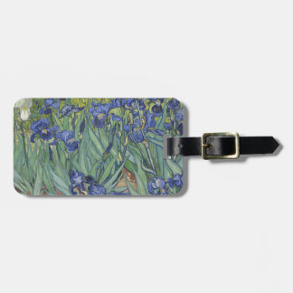 Irises by Van Gogh Blue Iris flowers Tag For Bags