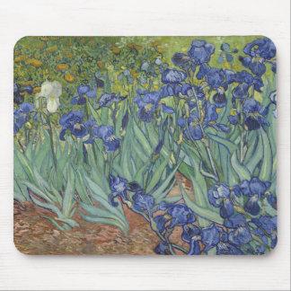 Irises by Van Gogh Blue Iris flowers Mouse Pad