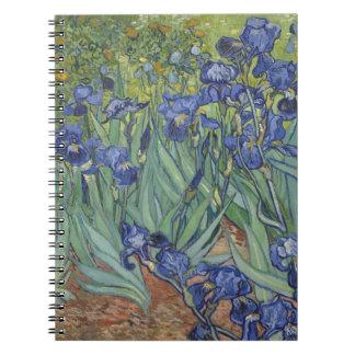 Irises by Van Gogh Blue Iris flowers Spiral Notebooks