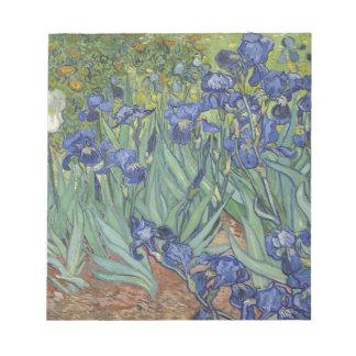 Irises by Van Gogh Blue Iris flowers Memo Notepad