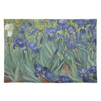 Irises by Van Gogh Blue Iris flowers Place Mat
