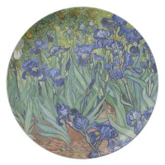 Irises by Van Gogh Blue Iris flowers Plate