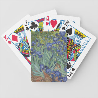 Irises by Van Gogh Blue Iris flowers Poker Cards