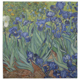 Irises by Van Gogh Blue Iris flowers Printed Napkins