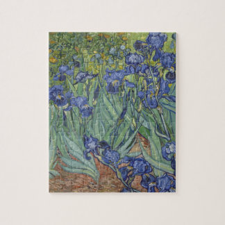 Irises by Van Gogh Blue Iris flowers Puzzles