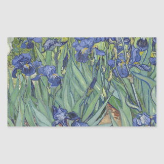 Irises by Van Gogh Blue Iris flowers Rectangular Sticker