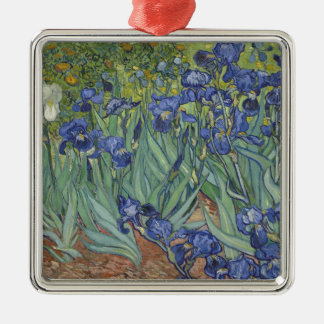 Irises by Van Gogh Blue Iris flowers Silver-Colored Square Decoration
