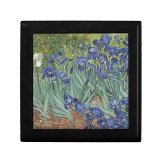 Irises by Van Gogh Blue Iris flowers Small Square Gift Box