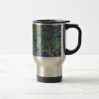 Irises by Van Gogh Blue Iris flowers Stainless Steel Travel Mug