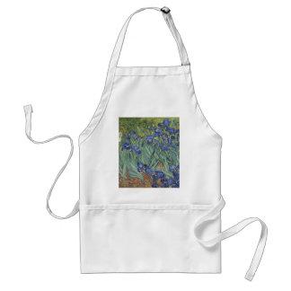 Irises by Van Gogh Blue Iris flowers Standard Apron