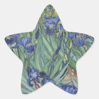 Irises by Van Gogh Blue Iris flowers Star Sticker