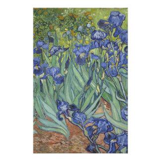 Irises by Van Gogh Blue Iris flowers Personalized Stationery
