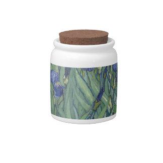 Irises by Van Gogh Blue Iris flowers Candy Jars