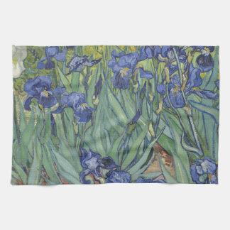 Irises by Van Gogh Blue Iris flowers Hand Towels