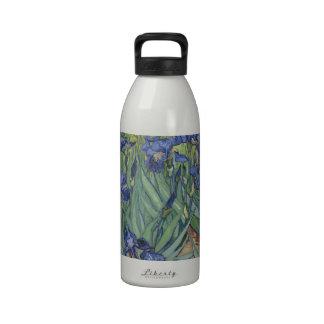 Irises by Van Gogh Blue Iris flowers Water Bottle