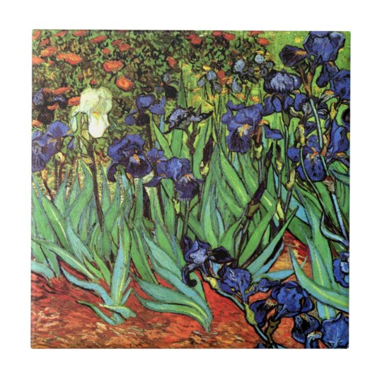 Irises by Van Gogh Fine Art Ceramic Photo