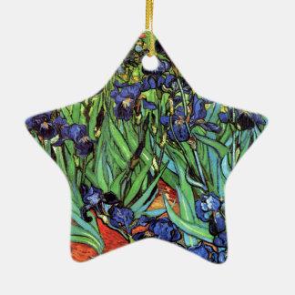 Irises by Van Gogh Fine Art Ceramic Star Decoration