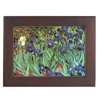 Irises by Van Gogh Fine Art Keepsake Box
