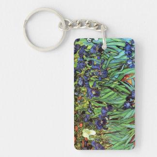 Irises by Van Gogh Fine Art Keychain