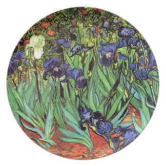 Irises by Van Gogh Fine Art Melamine Plate