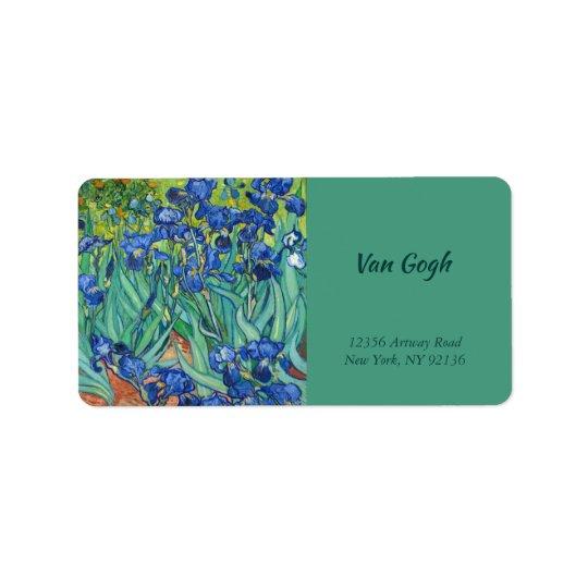 Irises by Van Gogh Label