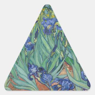 Irises by Van Gogh Triangle Stickers