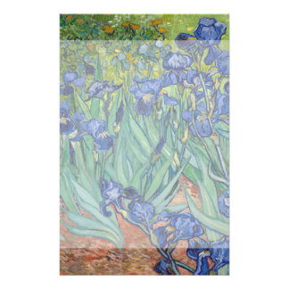 Irises by Vincent Van Gogh 14 Cm X 21.5 Cm Flyer