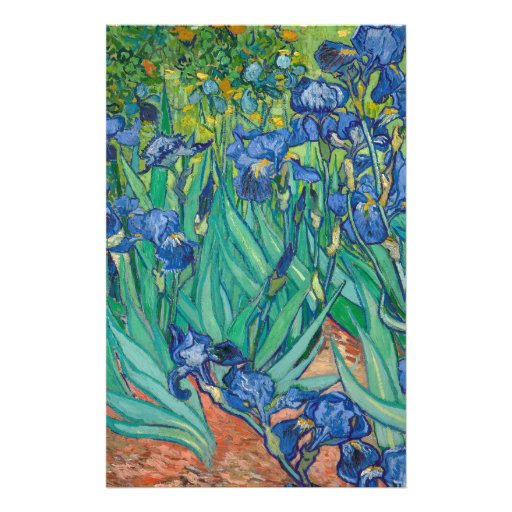 Irises by Vincent van Gogh Personalized Flyer