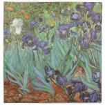 Irises by Vincent van Gogh, Vintage Fine Art Cloth Napkins