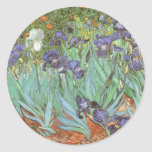 Irises by Vincent van Gogh, Vintage Fine Art Sticker
