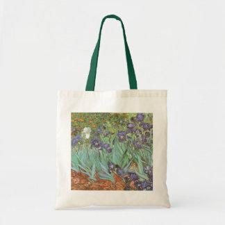 Irises by Vincent van Gogh, Vintage Flowers Art Budget Tote Bag