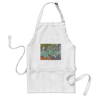 Irises by Vincent van Gogh, Vintage Flowers Art Standard Apron