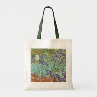 Irises by Vincent van Gogh, Vintage Flowers Art Tote Bag
