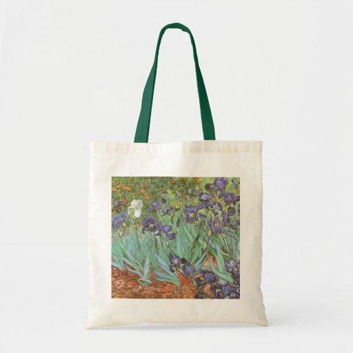 Irises by Vincent van Gogh, Vintage Garden Flowers Bag